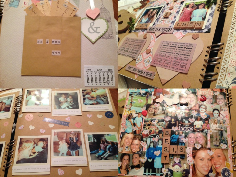 My pages for the scrapbook