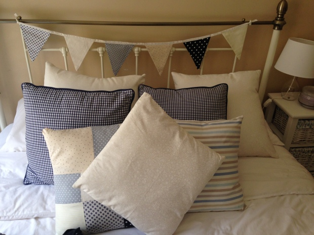 Pillows and matching bunting