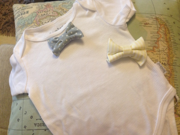 Press on bow tie onesies for the more discerning baby!